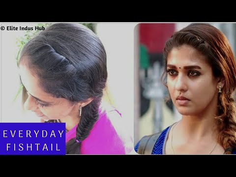 Everyday Fishtail for School/ College girls | kalyana vayasu kolamavu kokila nayanthara hairstyle thumbnail