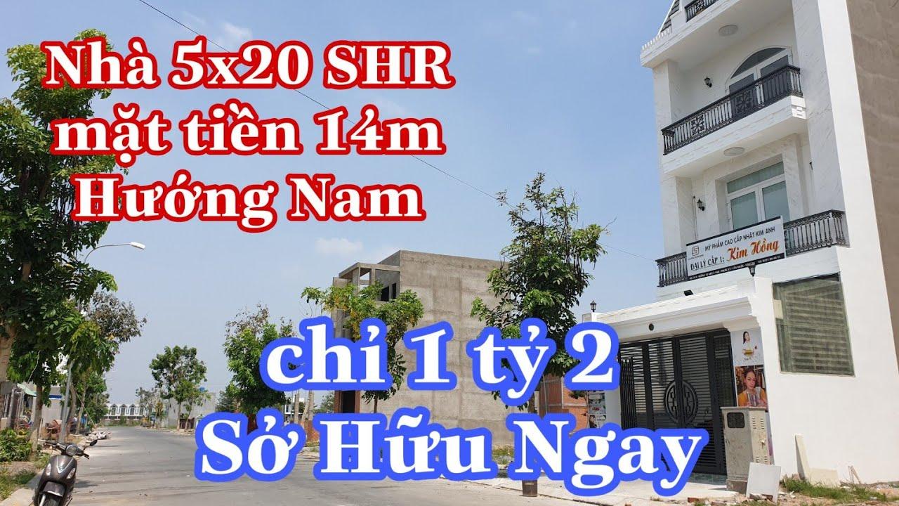 Nhà mới siêu đẹp và giá rẻ 5x20 Hướng Nam 4PN hỗ trợ vay giá full 2t850 | LH 0902420902