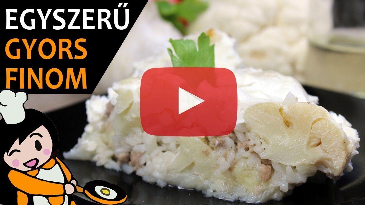 Rakott karfiol - Recept Videók - YouTube