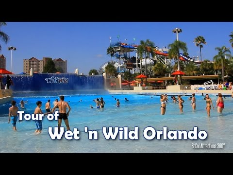 [HD] Tour of Wet 'n Wild Orlando water park