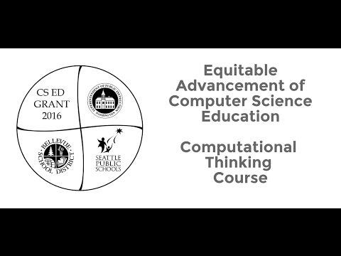 CS & CT from the Student Perspective: Computational Thinking (CT) for Educators K-8