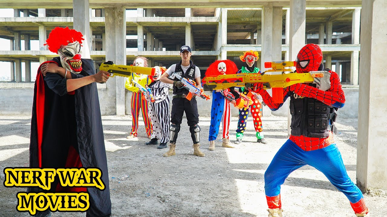 Nerf War Movies: Spider X Warriors Nerf Guns Fight Criminal Group The Zombies Army