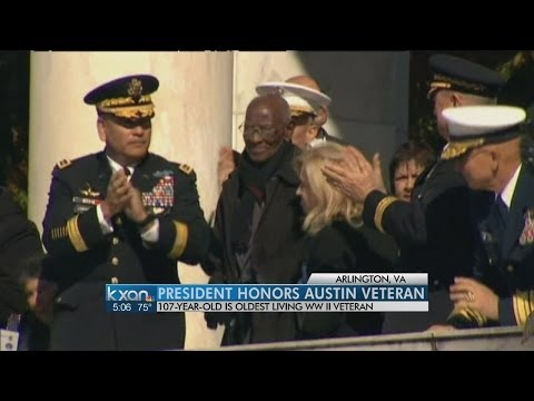 Thumbnail: Obama pays tribute to 107-year-old WWII veteran