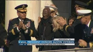 Obama pays tribute to 107-year-old WWII veteran