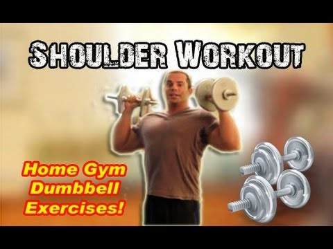 Home Shoulder Workout With Dumbbells Youtube
