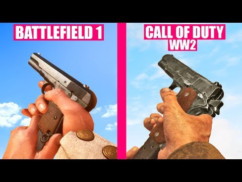 BATTLEFIELD 1 Gun sounds vs Call of Duty WW2