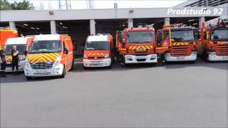 SDIS 59 Départ FPT1, FPT2, EPS30, VSAV1, EMOD4  CIS Fort Mardyck (Dunkerque)