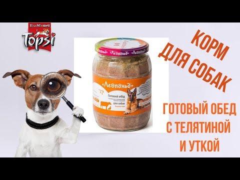 Готовый обед для собак из телятины и утки | ТМ 'Леопольд'