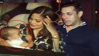 Salman Khan's Cute Nephew AHIL At Papa Aayush Sharma's Birthday Bash