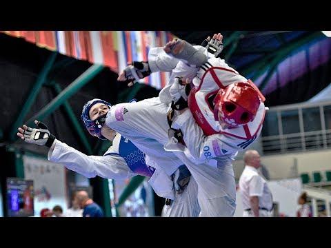 Aaron Cook (MDA) Vs Ismael Bouzid (FRA). European Taekwondo Championships Kazan-2018