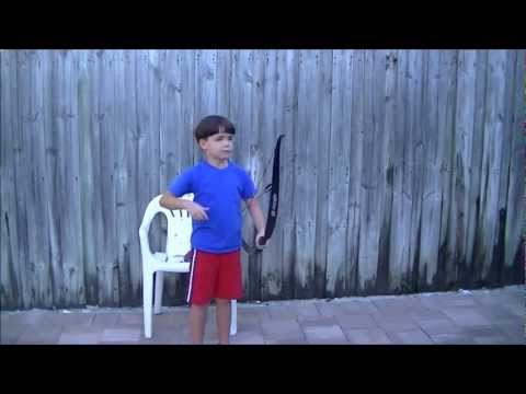 "Kids shooting Turkey ✔ Target with PSE Snake Bow 60"" Recurve 25#"