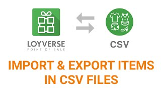Video How to import & export items in CSV files Loyverse POS download MP3, 3GP, MP4, WEBM, AVI, FLV Januari 2019