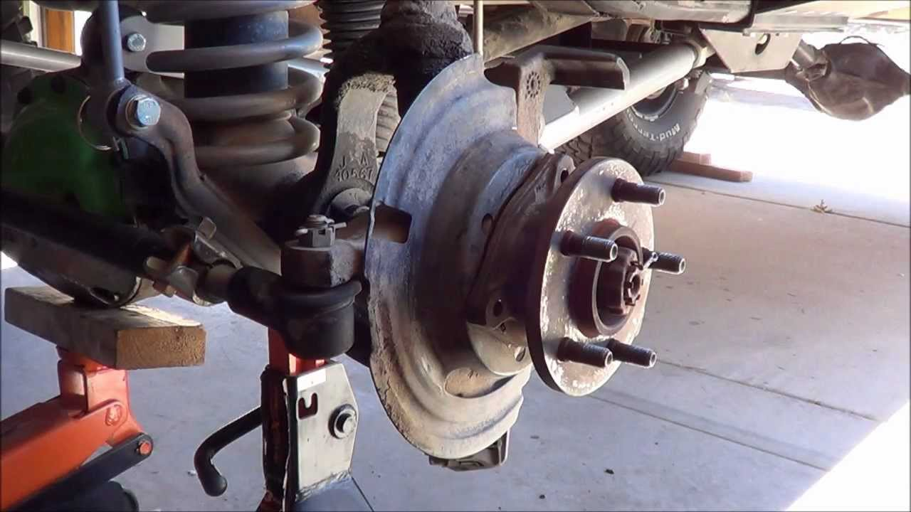 small resolution of jeep cherokee xj front wheel hub replacement