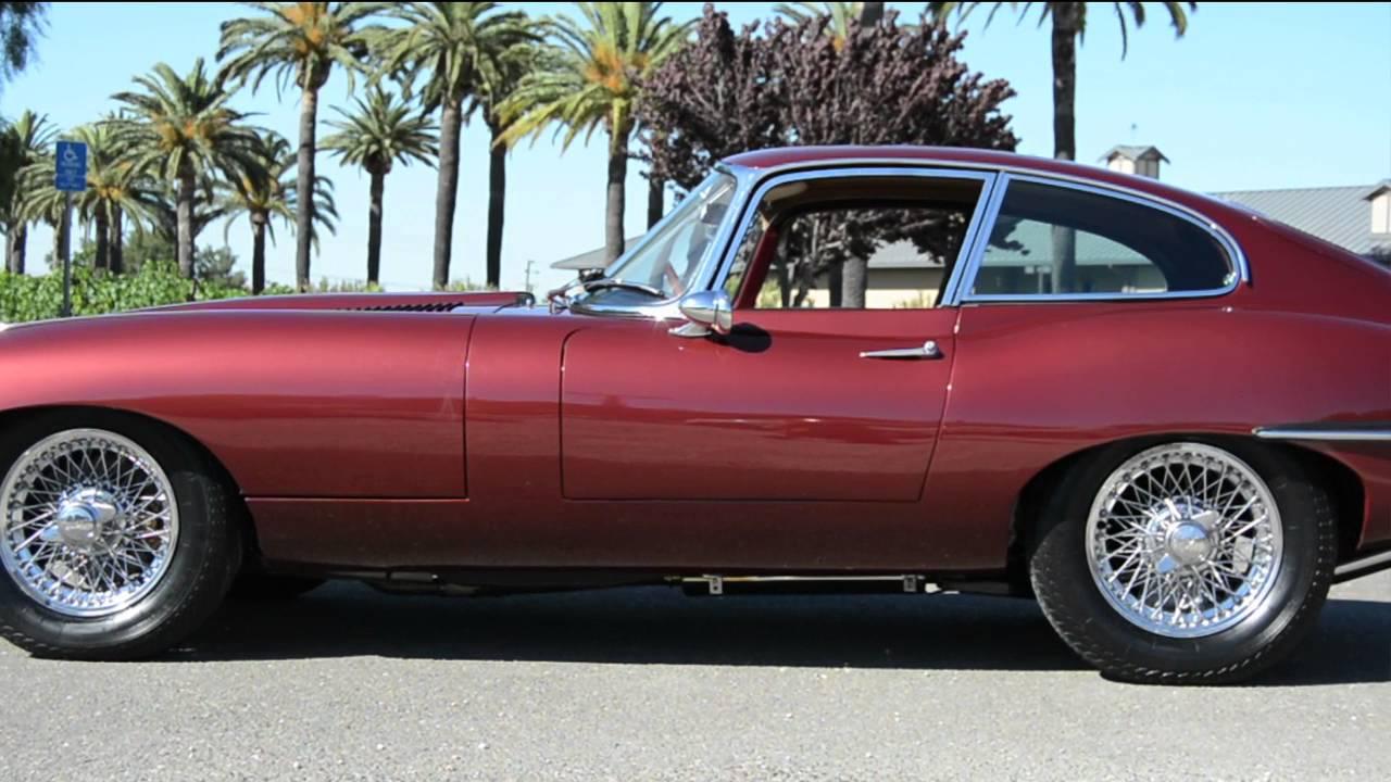 1967 Jaguar E Type Coupe Maroon