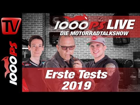 1000PS Live - Die Motorrad Talkshow - Erste Tests 2019