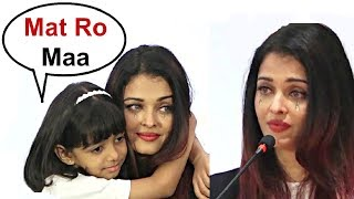 Aaradhya Bachchan Console Aishwarya Rai Crying For Her Father