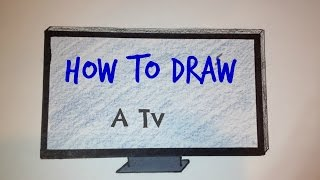 How to Draw a TV | Simple Drawing Tutorial