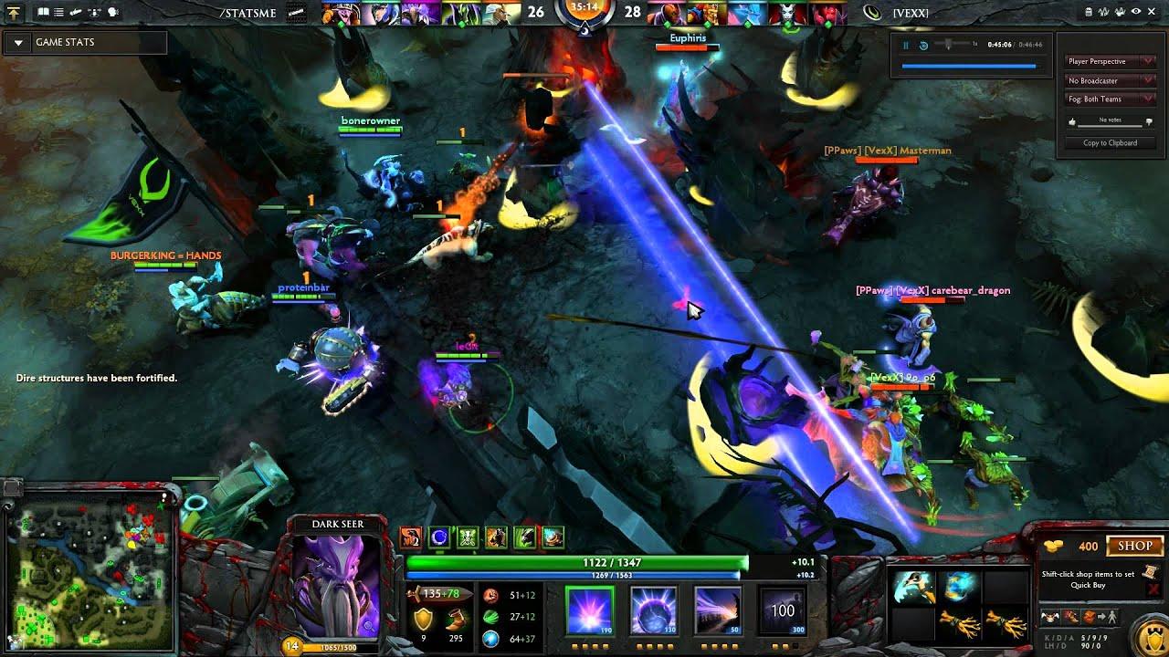 dota 2 dark seer huge vacuum into a wall team mm youtube
