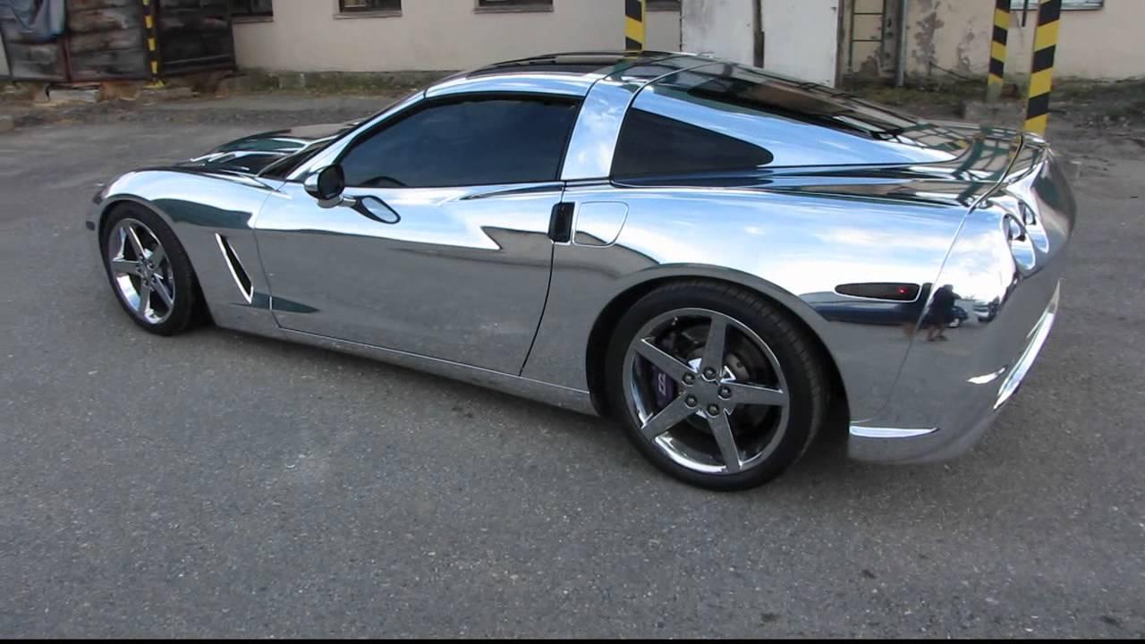 Chrome Corvette Car Tintek Wrap Wmv Youtube