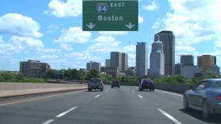 I-84 East Through Hartford, CT