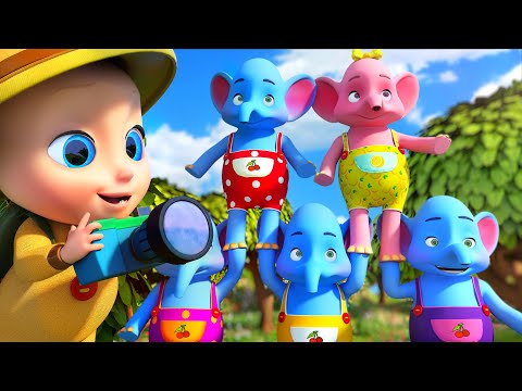 One Elephant went out to play -  THE BEST Song for Children | LooLoo Kids