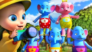 🐘One Elephant Went Out To Play - 👶 THE BEST Song for Children | LooLoo Kids