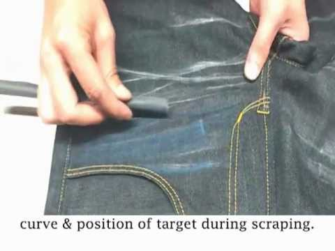 NI-MES DENIMing: 8216 Style Jeans - Whisker & Handsand DIY Tutorial