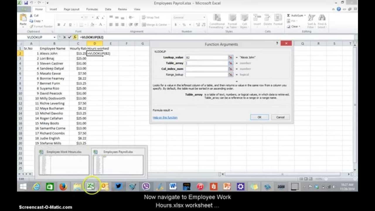 Vlookup example spreadsheet & tutorial | productivity portfolio.
