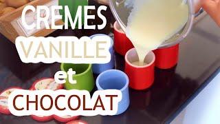 Recette ultra simple de crèmes dessert maison ! A la vanille et au chocolat, mais vous pouvez aussi mettre des spéculoos, du café, etc. ♡ Des crèmes façon La ...