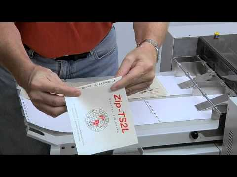 Zip-TS2L - Book & Fill Finishing - THERM-O-TYPE Corp.