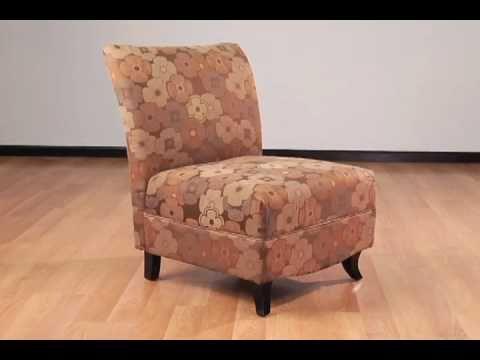 High Quality Armen Living Malibu Armless Club Chair (Flower)