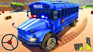 US Police Bus Demolition Derby Crash Stunts 2021 - Rescue Bus Driving Game   Android Gameplay screenshot 5
