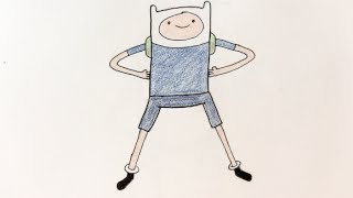How to draw Finn the human from Adventure Time step by step - Things to Draw