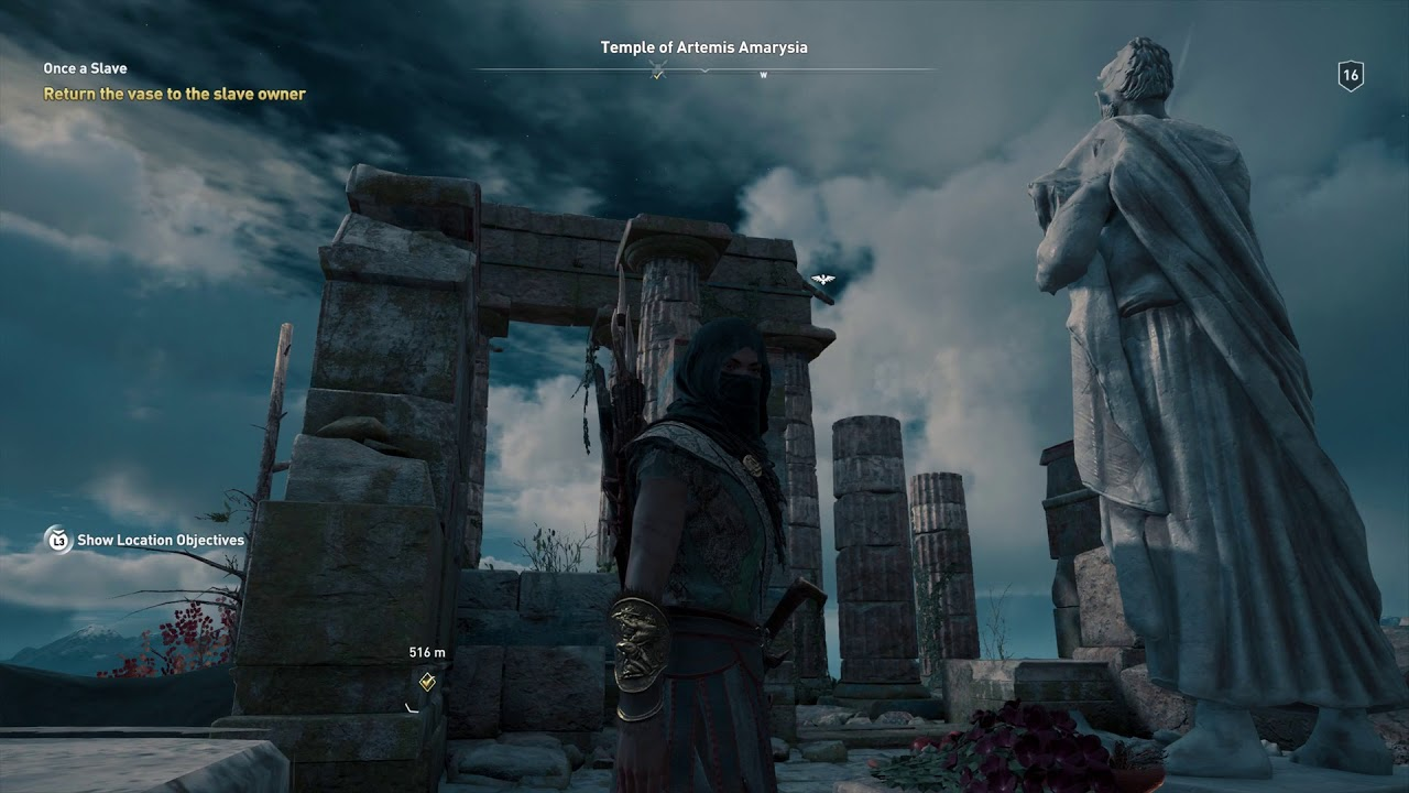 Assassin S Creed Odyssey Temple Of Artemis Amarysia Fast Travel
