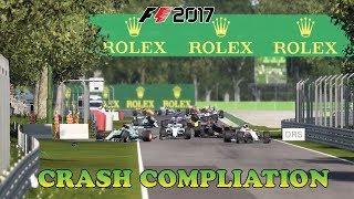 F1 2017 Game - Crash Compliation