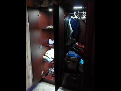 Como iluminar armario ropero con luz led youtube - Iluminacion interior armarios ...