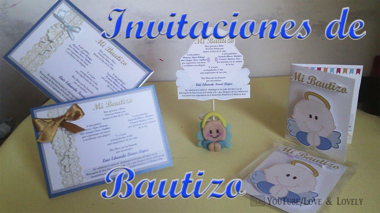 Diy Invitaciones De Bautizo 3 Opciones