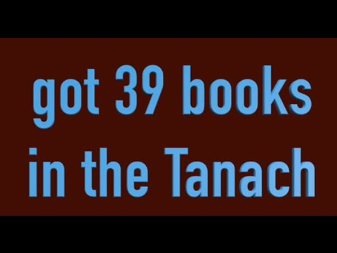 39 Books In The Tanakh  Tanach