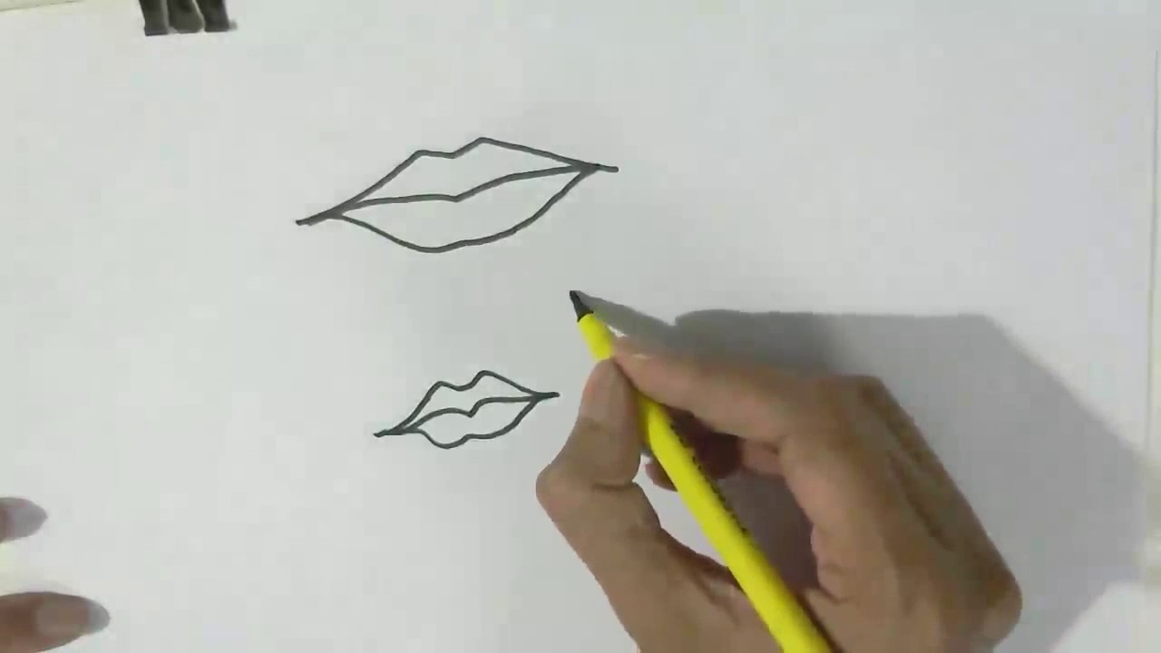 How To Draw Lips In Easy Steps For Children Kids Beginners Youtube