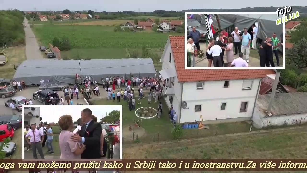 Download MILOŠ I TAMARA - SVADBA,   DOLAZAK PO MLADU I SKIDANJE JABUKE - SNIMANJE DRONOM