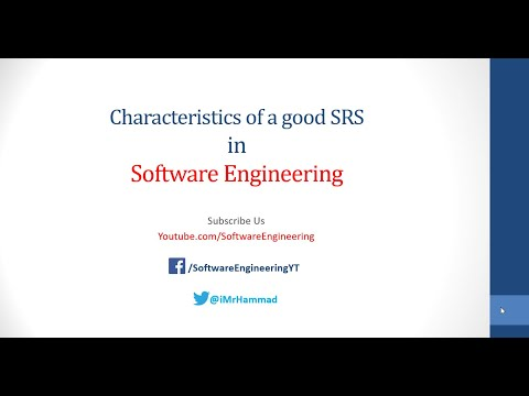 Characteristics of Good SRS - Software Requirement Specification Urdu/Hindi