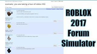 ROBLOX 2017 Forum Simulator