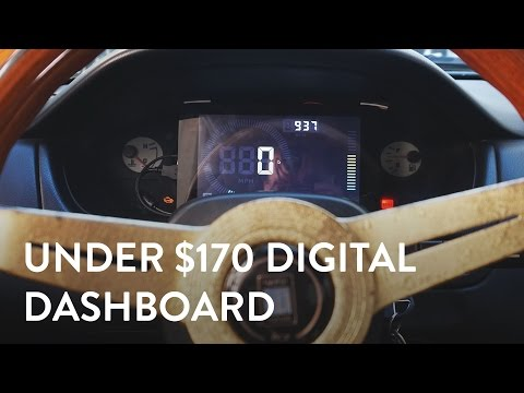 Under $170 Digital Dash!