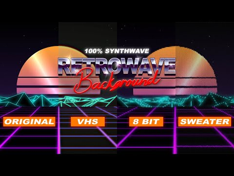 Футажи ретро 80.Retrowave footage.VHS 8Bit Sweater.Synthwave