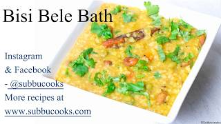 Bisi Bele Bath in Instant Pot || potluck recipes || Sambar Sadam || Bisi bele Huli Anna