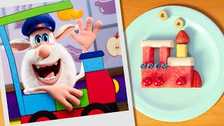 Booba 🚀 Food Puzzle: Fruit Rocket and Train 🚂 Funny cartoons for kids - Booba ToonsTV YouTube Videos