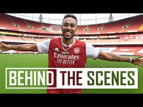 ✍️ Aubameyang's signing day | Behind the scenes at Emirates Stadium