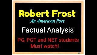 Robert Frost an American poet factual information about life and literay career By BEST TUTOR