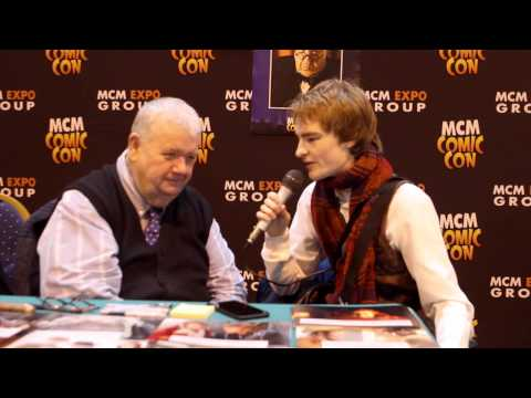Exclusive  with Ian McNeice at MCM Birmingham Comic Con 2014