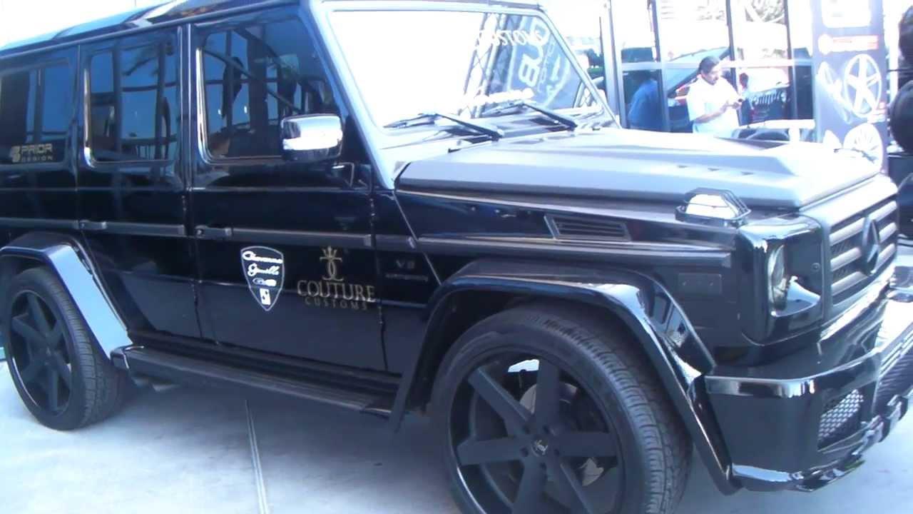 Mercedes G Wagon Matte Black >> DUBSandTIRES.com 24'' Giovanna Verona Matte Black Wheels 2012 Mercedes G 500 Rims Asanti ...